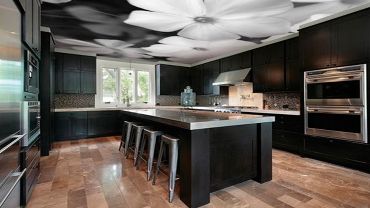 дарить черный натяжных потолков на кухню фото магазин